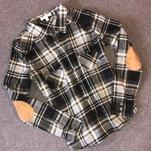 Elbow Patch Button Up Flannel